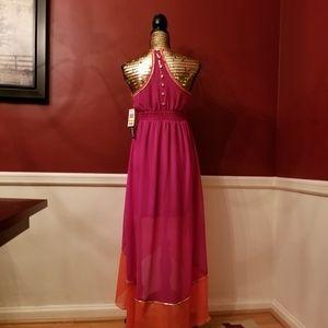 16baa945347 XOXO Dresses - XOXO Color Block High Low Maxi Dress